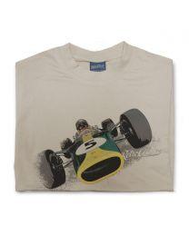 1967 Lotus 49 Mens Classic Sports Tee - Sand
