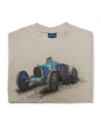 1925 Bugatti 35B Grand Prix Sports Car Mens Crew Neck T-Shirt