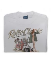 MODs Lambretta Scooter and Miss Wales 2011 Mens T-shirt