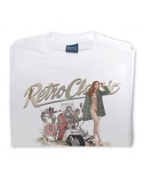 MODs Lambretta Scooter  and Miss Wales 2011 Tee - White