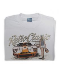 Ford GT40 and Grid Girl Tee - Grey