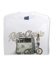 Rusty Rat Camper and Melisa Mendini BMX Riding Tee - White