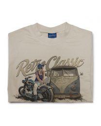 Rat Classics  aircooled camper and custom motorcycle Mens T-Shirt