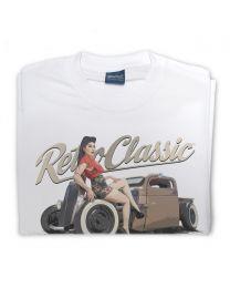 Zelda - 1946 Ratrod Chevy Truck Tee - White