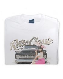 Miss Chelydoll - 1963 Chevy C-10 Long Bed Truck Tee - White