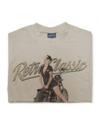 Bobber Bike & Miss Lady Allure Tee - Sand