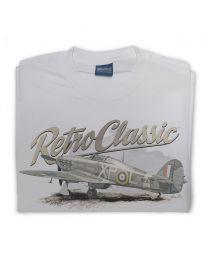Hawker Hurricane Fighter Plane Tee - Grey
