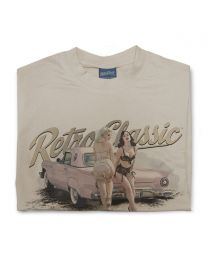Pink Thunderbird and Vintage Underwear Pin-ups mens T-shirt