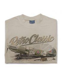WWII Supermarine Spitfire Fighter Plane Tee - Sand