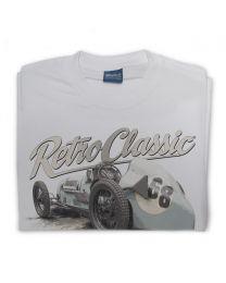 Austin 7 Kay Retre Replica Race Car Tee - Grey