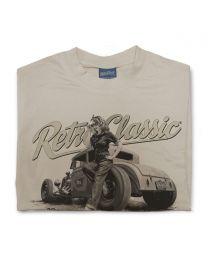 Ford Model A Hot Rod & Rina Bambina B/W Mens T-Shirt