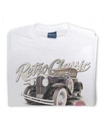 1929 Pontiac 6 Roadster Tee - White