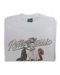 Miss Alice Meow and Retro Vespa Mens T-shirt
