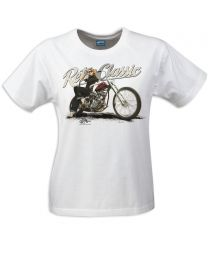 Harley Thunder Bike and Rina Bambina Ladies T-Shirt