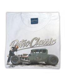 Ford Model A Hot Rod & Rina Bambina Ladies T-Shirt