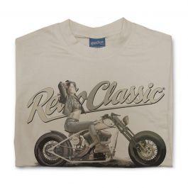 Harley Monster & Mint Customs Harley Bobber Motorbike Mens T-Shirt
