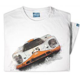 1969 Gulf Porsche 917K Mens Classic Race Car T-Shirt