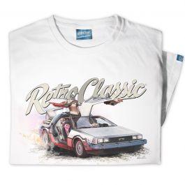 BTTF Car Replica 'DeLorean Time Machine' Mens T-Shirt