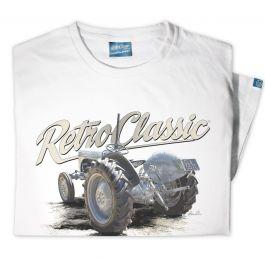 Rear Grey Ferguson TE20 Tractor Mens T-Shirt