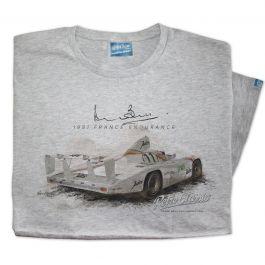 Mens '1981 France Endurance' Official Derek Bell Classic Race Car T-Shirt