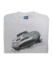 Jag E-type Mens Classic Car Tee - Grey