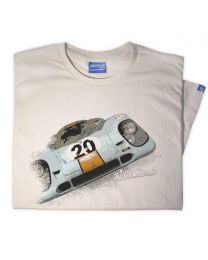 Gulf Porsche 917 Mens Classic Sports Car Tee - Sand