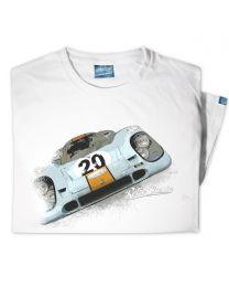Gulf Porsche 917 Mens Classic Sports Car T-Shirt