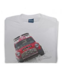 Rally Mini Cooper Mens Classic Sports Car T-Shirt