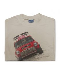 Rally Mini Cooper Mens Classic Sports Car T-Shirt