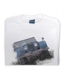 Series 1, 4 x 4 Off Road Vehicle Tee - White