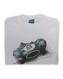 D-Type Jag Classic Sports Car Tee - Grey