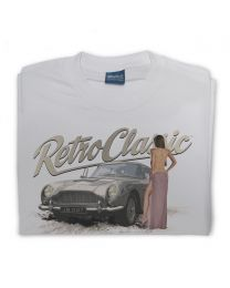 Aston DB5 007 and Sexy Woman Tee - Grey