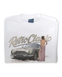 Aston DB5 007 and Sexy Woman Mens T-shirt