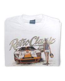 Ford GT40 and Grid Girl Mens T-Shirt