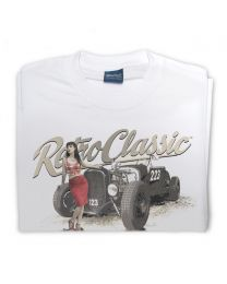 American Hot Rod 223 and Scarlet Fatale Tee - White