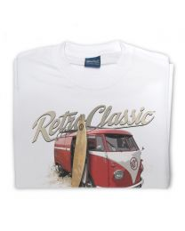 Surfers Bus Camper Tee - White