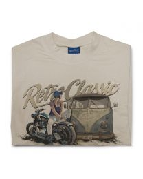 Rat Classics  aircooled camper and custom motorcycle Mens T-Shirt