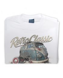 Luke's Rusty Rat Splitty and Drift Trike Tee - White
