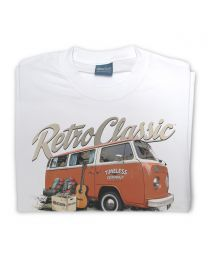 'Timeless' Mark's Retro Bay Window and Camping Gear Tee - White