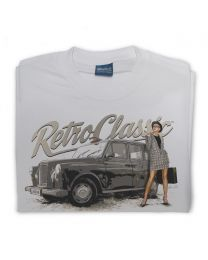 Classic London Black Cab and model Victoria Mens T-Shirt