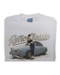 Karmann Ghia Coupe & Bethany Birks Mens Classic Car T-shirt