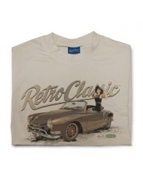1970 Karmann Ghia - Dave Warren & Adam Allen Collaboration Tee - Sand