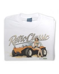 Meyers Manx Buggy - Dave Warren and Adam Allen Collaboration Tee - White