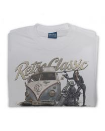 Harley Grunge Bus - Brian's Rust Rat Splittie & Harley Tee - Grey