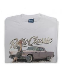 Celina - 1957 Ford Thunderbird Tee - Grey