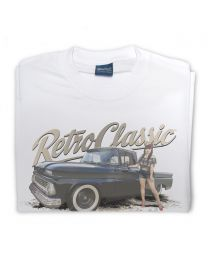 Miss Chelydoll 02 - 1963 Chevy C-10 Long Bed Truck Tee -White
