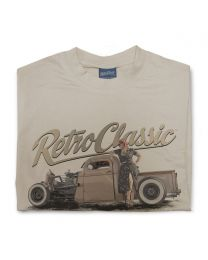 Ruby Woo - 1946 Ratrod Chevy Truck Tee - Sand