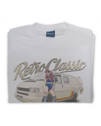 Phil Vaughan's T4 Camper and retro Roller Skate Pin-Up Mens T-Shirt