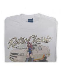 Phil Vaughan's T4 Camper and retro Roller Skate Pin-Up Mens T-Shirt