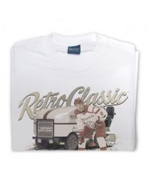 Ice Resurfacer and Ice Hockey Player Tee - White
